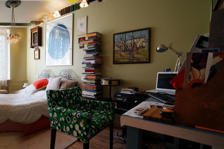 спальня кабинет книги