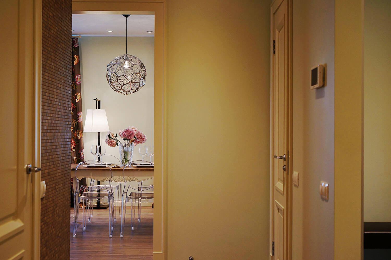 дизайн трехкомнатной квартиры гортензия и пионы